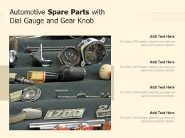 Automotive Spare Parts With Dial Gauge And Gear Knob