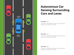 Autonomous Car Sensing Surrounding Cars And Lanes