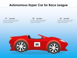 Autonomous Hyper Car For Race League