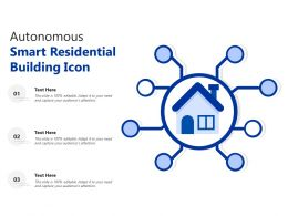 Autonomous Smart Residential Building Icon