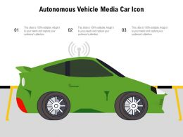 Autonomous Vehicle Media Car Icon