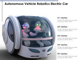 Autonomous Vehicle Robotics Electric Car