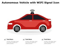 Autonomous Vehicle With WIFI Signal Icon