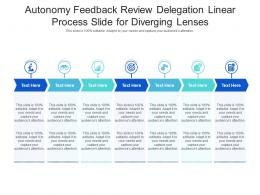 Autonomy Feedback Review Delegation Linear Process Slide For Diverging Lenses Infographic Template