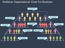 av Multilevel Organizational Chart For Business Flat Powerpoint Design