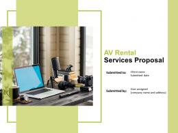 AV Rental Services Proposal Powerpoint Presentation Slides
