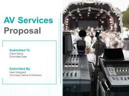 AV Services Proposal Powerpoint Presentation Slides