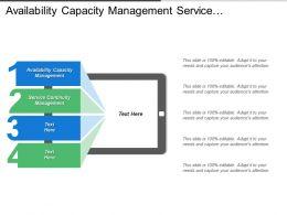 Availability Capacity Management Service Continuity Management Supplier Management
