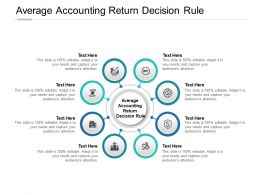 Average Accounting Return Decision Rule Ppt Powerpoint Presentation Summary Cpb
