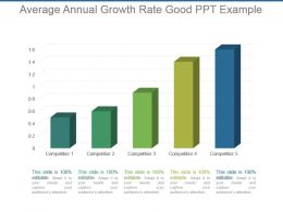 Average Annual Growth Rate Good Ppt Example