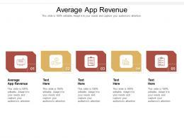 Average App Revenue Ppt Powerpoint Presentation Outline Aids Cpb