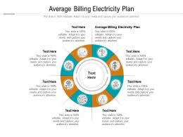 Average Billing Electricity Plan Ppt Powerpoint Presentation Styles Objects Cpb