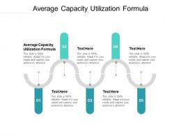 Average Capacity Utilization Formula Ppt Powerpoint Presentation Infographic Template Backgrounds Cpb
