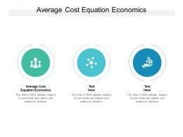 Average Cost Equation Economics Ppt Powerpoint Presentation Show Cpb