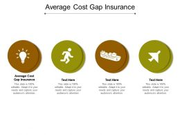 Average Cost Gap Insurance Ppt Powerpoint Presentation Model Inspiration Cpb