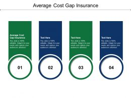 Average Cost Gap Insurance Ppt Powerpoint Presentation Styles Outfit Cpb