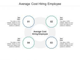 Average Cost Hiring Employee Ppt Powerpoint Presentation Portfolio Deck Cpb