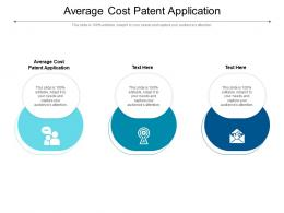 Average Cost Patent Application Ppt Powerpoint Presentation Ideas Deck Cpb
