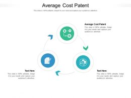 Average Cost Patent Ppt Powerpoint Presentation Icon Professional Cpb