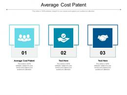 Average Cost Patent Ppt Powerpoint Presentation Visual Aids Summary Cpb