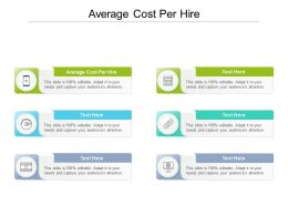 Average Cost Per Hire Ppt Powerpoint Presentation Inspiration Format Cpb