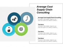 Average Cost Supply Chain Consulting Ppt Powerpoint Presentation Pictures Show Cpb