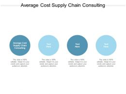 Average Cost Supply Chain Consulting Ppt Powerpoint Slides Example Introduction Cpb