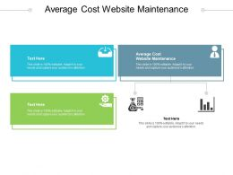 Average Cost Website Maintenance Ppt Powerpoint Presentation Show Example File Cpb