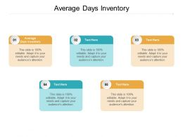 Average Days Inventory Ppt Powerpoint Presentation Pictures Professional Cpb