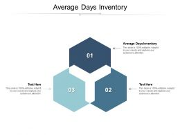 Average Days Inventory Ppt Powerpoint Presentation Portfolio Smartart Cpb