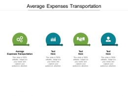 Average Expenses Transportation Ppt Powerpoint Presentation File Show Cpb