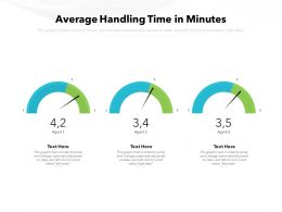 Average Handling Time In Minutes