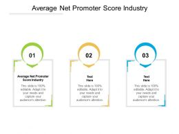 Average Net Promoter Score Industry Ppt Powerpoint Presentation File Example Topics Cpb