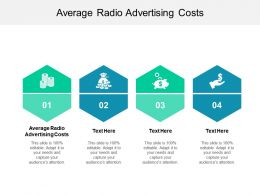 Average Radio Advertising Costs Ppt Powerpoint Presentation Show Icon Cpb