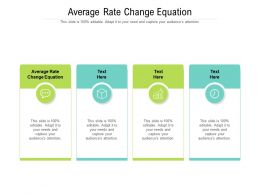 Average Rate Change Equation Ppt Powerpoint Presentation Ideas Graphics Cpb