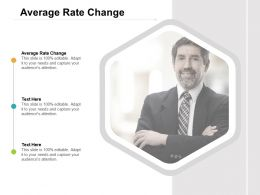 Average Rate Change Ppt Powerpoint Presentation Professional Format Ideas Cpb