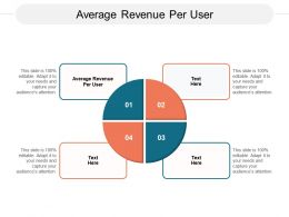 Average Revenue Per User Ppt Powerpoint Presentation Deck Cpb