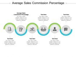 Average Sales Commission Percentage Ppt Powerpoint Presentation Ideas Skills Cpb