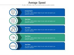 Average Speed Ppt Powerpoint Presentation Inspiration Influencers Cpb