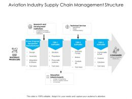 Aviation Industry Supply Chain Management Structure