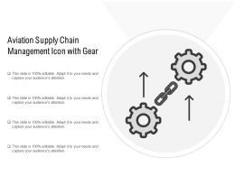 Aviation Supply Chain Management Icon With Gear