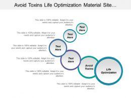 Avoid Toxins Life Optimization Material Site Leadership Symbol