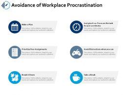 Avoidance Of Workplace Procrastination Ppt Portfolio Good
