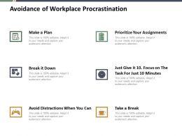 Avoidance Of Workplace Procrastination Ppt Summary Skills