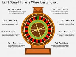 aw Eight Staged Fortune Wheel Design Chart Flat Powerpoint Design