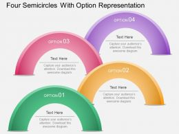 Aw Four Semicircles With Option Representation Powerpoint Template