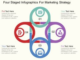 aw Four Staged Infographics For Marketing Strategy Flat Powerpoint Design