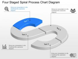 aw Four Staged Spiral Process Chart Diagram Powerpoint Template