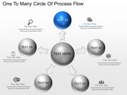 Aw One To Many Circle Of Process Flow Powerpoint Template