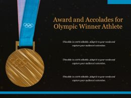 Award And Accolades For Olympic Winner Athlete